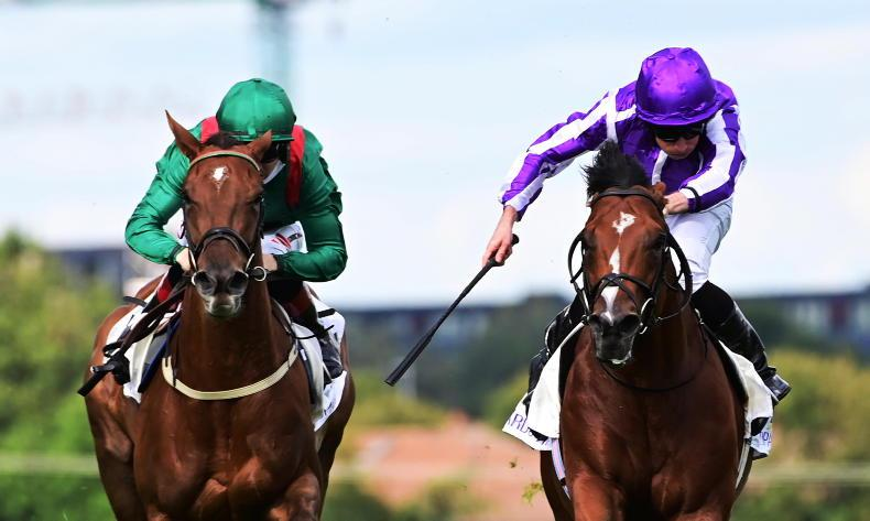 TIME WILL TELL: Trademark turn of foot wins the day for brilliant Basilica