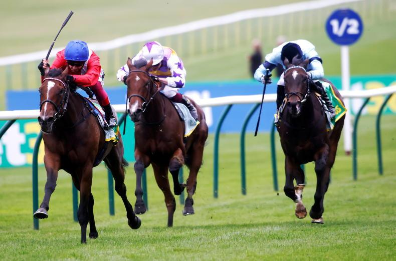 BRITAIN: Inspiral lays down Guineas marker