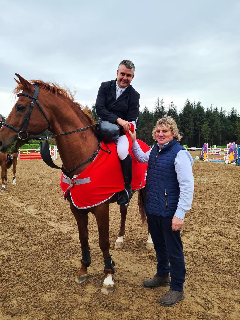 SHOW JUMPING: Craig celebrates with Cherry Wine