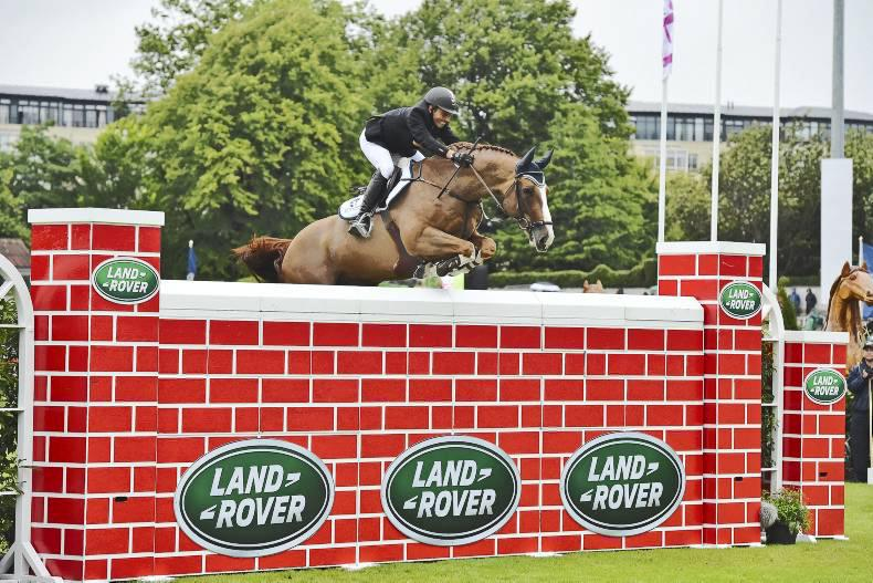 DUBLIN HORSE SHOW: The big bad wall