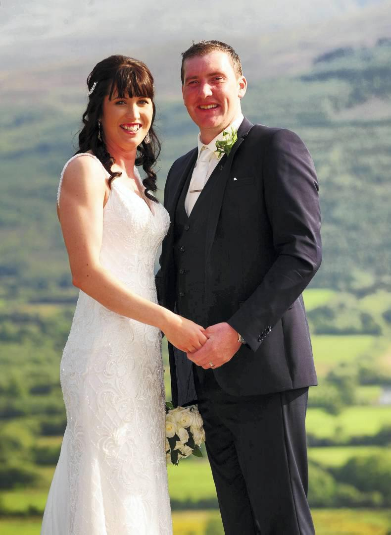 VIEW FROM ABOVE: Wedding bells for Karen and Eoin