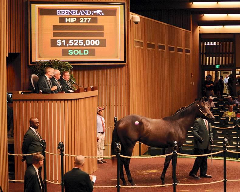 KEENELAND SALES: Tapit and War Front dominate at Keeneland