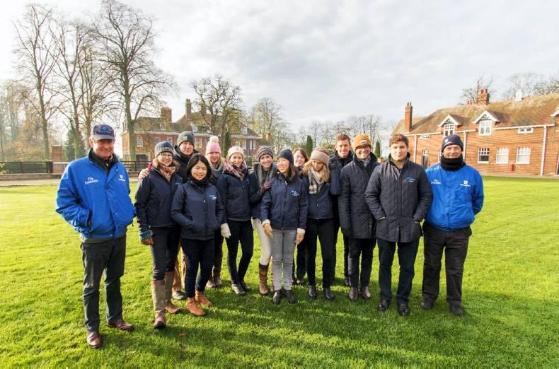 DARLEY FLYING START: Immersed in the English industry