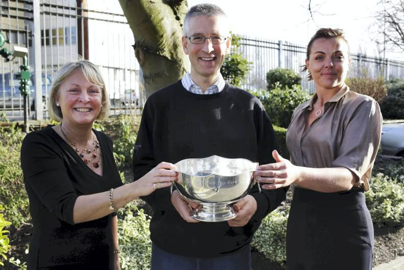 Gary O'Brien picks up the Ladbrokes Nap Table trophy
