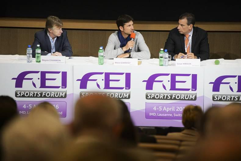 Olympic champion Steve Guerdat features on first day of FEI Sports Forum