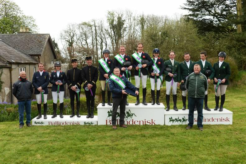 Funnell and Britain win, Ireland second at Ballindenisk