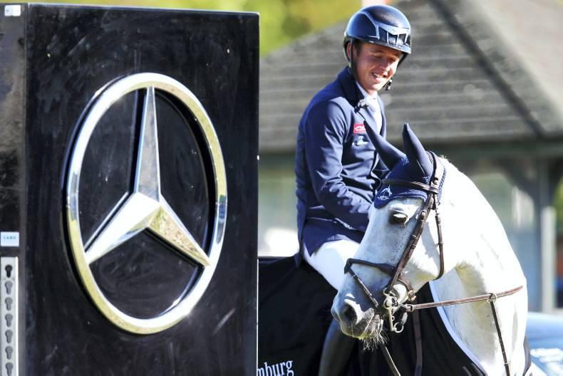 Bertram Allen drives away with another car: a Mercedes Benz