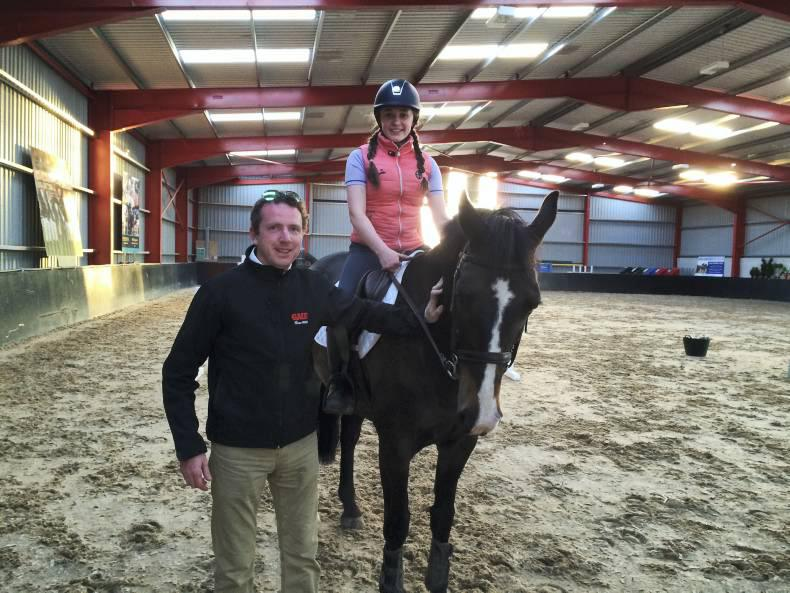 PONY TALES: Caitlyn picks up top tips from Greg!