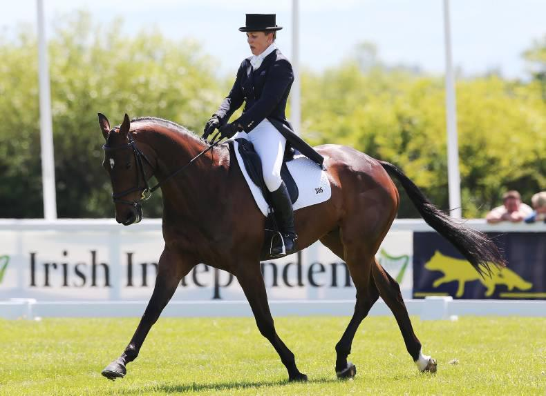 Australia's Samantha Birch leads after dressage at Tattersalls
