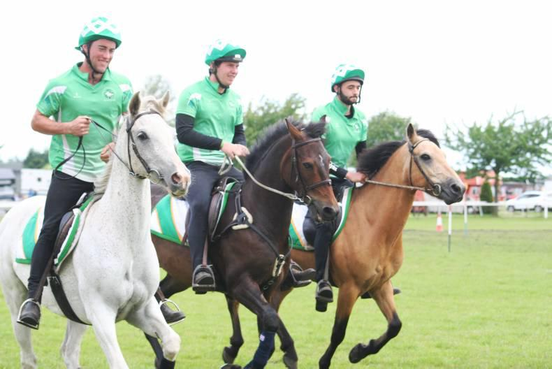 MOUNTED GAMES: Here come the boys in green