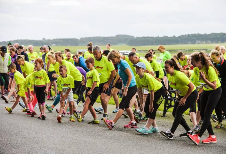 JOG FOR JOCKEYS:  Over 400 make the Curragh run