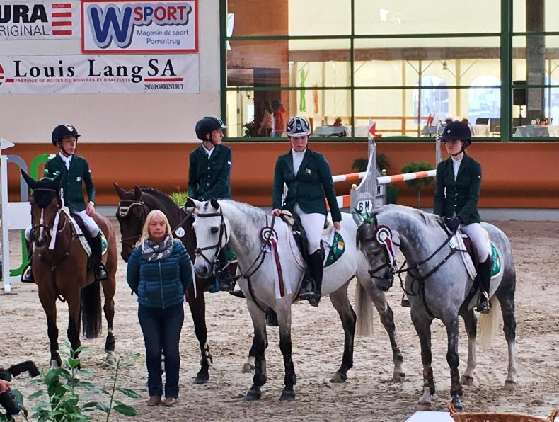Irish pony team close at Chevenez