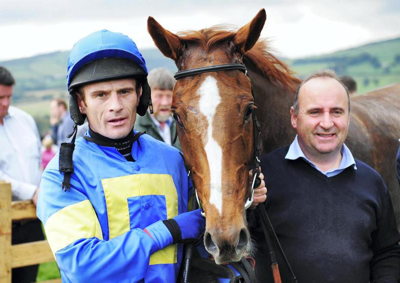POINT-TO-POINTS:  Jockeys McIntyre and Quinlan switch sides