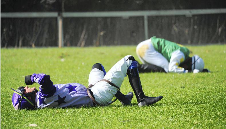 Jockeys bear the pain and strain