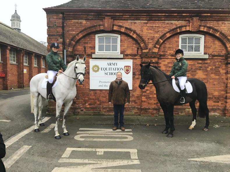 PONY CLUB: Duo in training with the Army