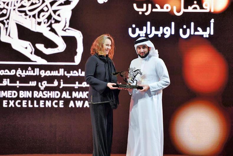 Aidan O'Brien wins Sheikh Mohammed award