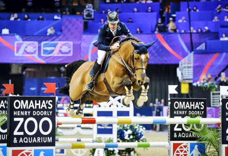 Denis Lynch and All Star qualify for Sunday's World Cup Jumping final in Omaha