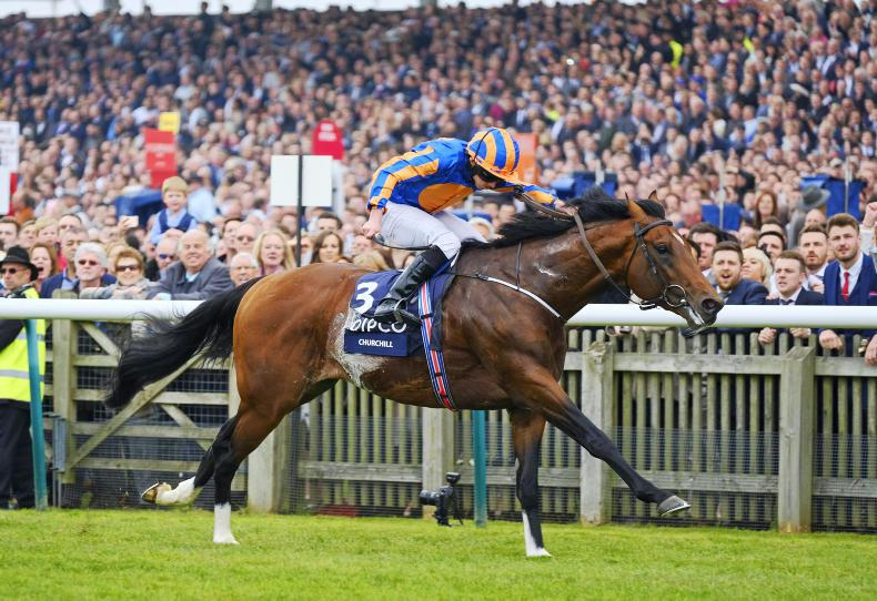 BRITAIN: Churchill storms to Guineas glory