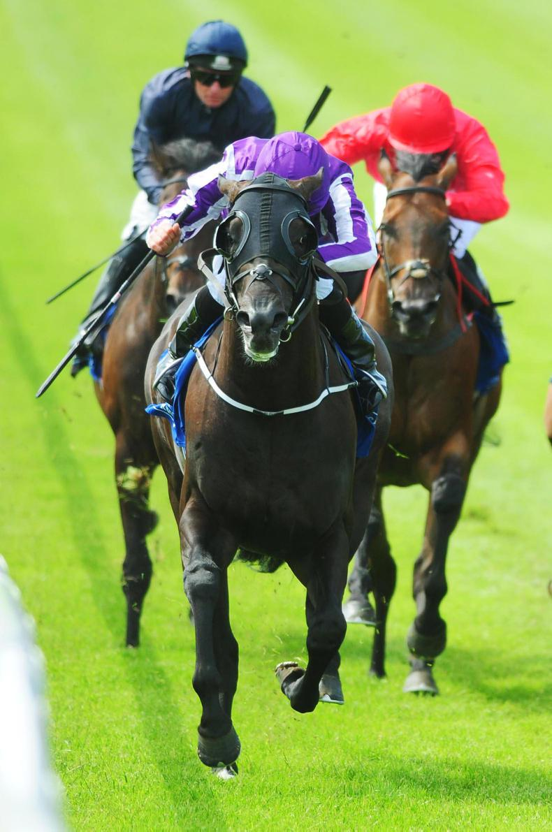 CURRAGH SUNDAY: Spirit shows his Valor as he makes all in the Minstrel