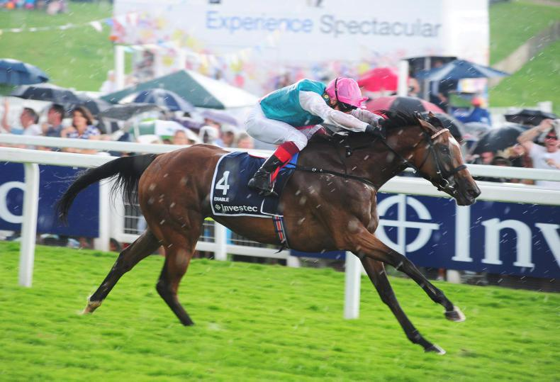 Enable and Frankie Dettori cruise to Oaks double at the Curragh