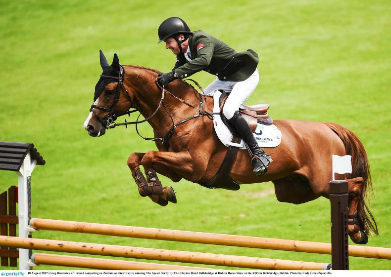 DUBLIN HORSE SHOW: Broderick and Zuidam make it two from two in the Speed Derby