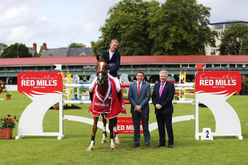 DUBLIN HORSE SHOW 2017:  Beautiful Red seals it for Schuttert