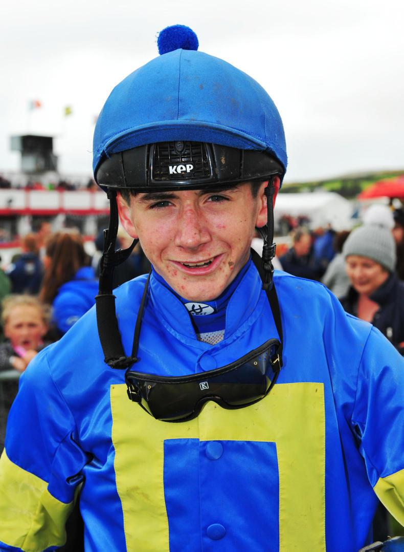 HORSE AND PONY RACING:  Coen the star man at Geesala