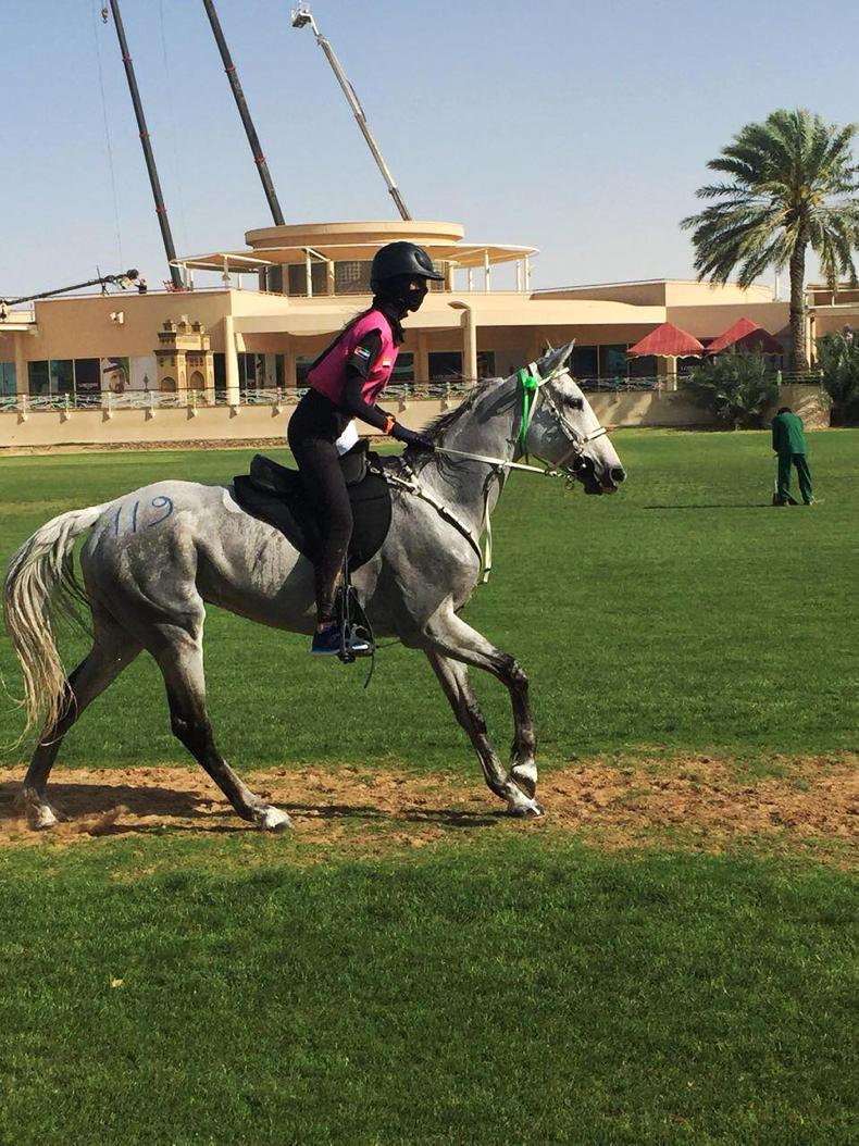 ENDURANCE: McAuley gets her win in Dubai