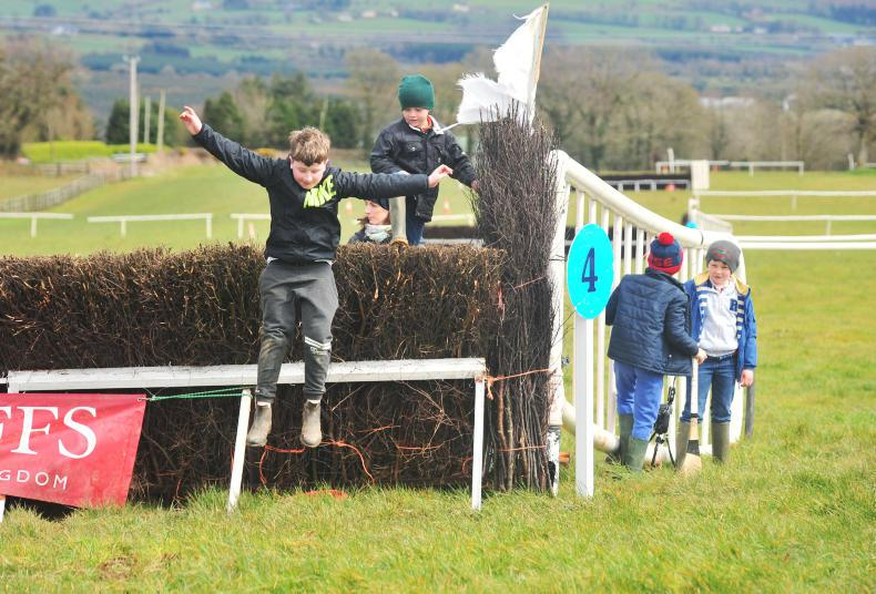 PICTURE DESK Action from the Dromahane track!